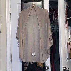 Basic throw-over cardigan